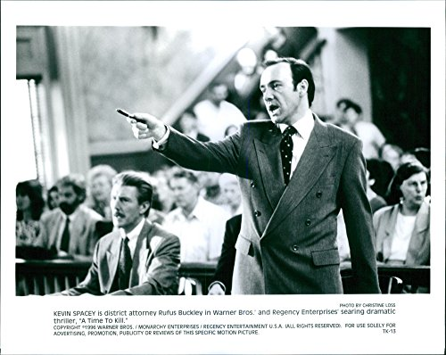 Vintage photo of Kevin Spacey is district attorney Rufus Buckley in Warner Bros.39; and Regency Enterprises39; searing dramatic thriller,