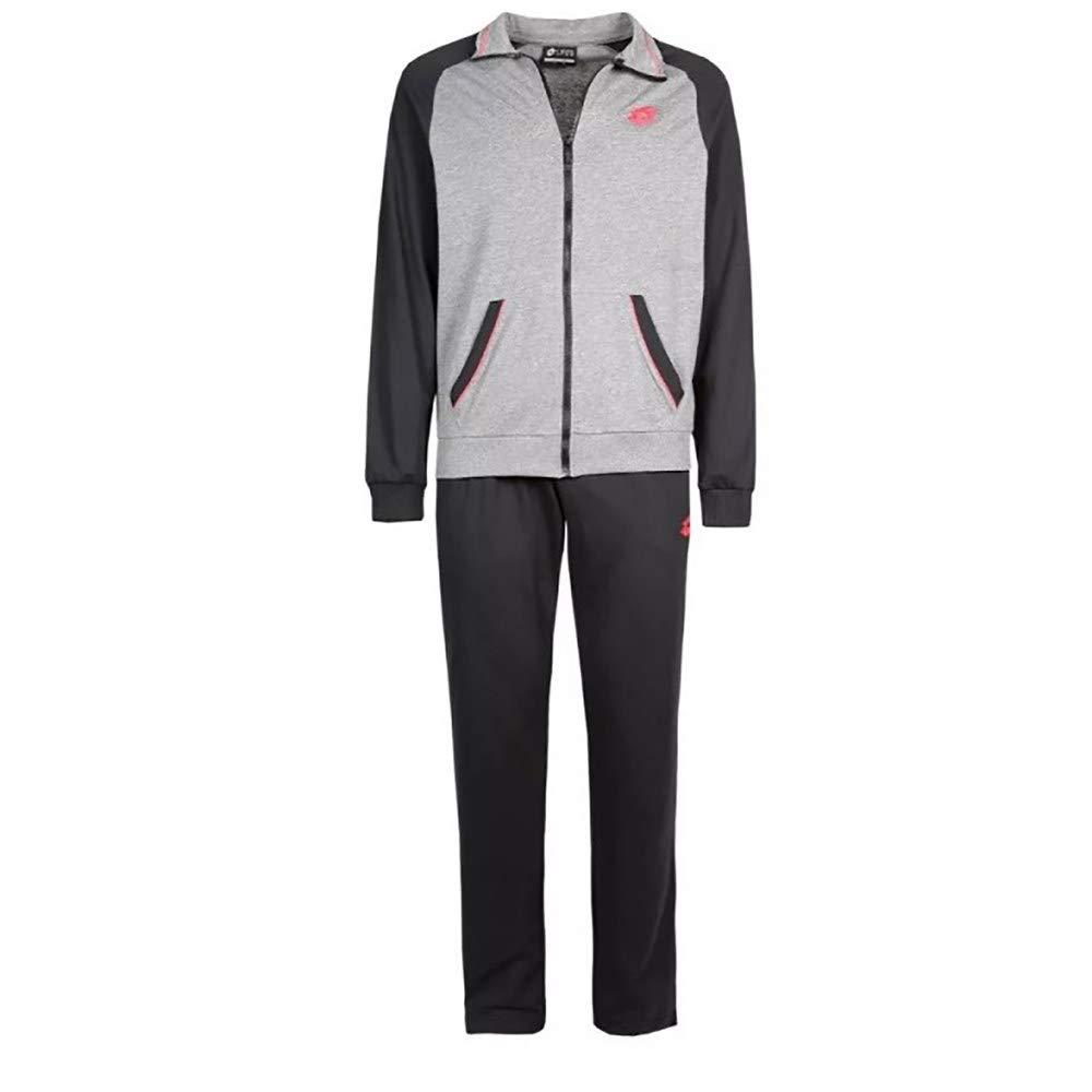 Lotto Mason VI Suit Herren Trainingsanzug, JS, grau (GPH ml BLK)
