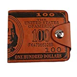 HENGSONG Men US Dollar Bill Wallet PU Leather Credit Card Photo Holder Bifold