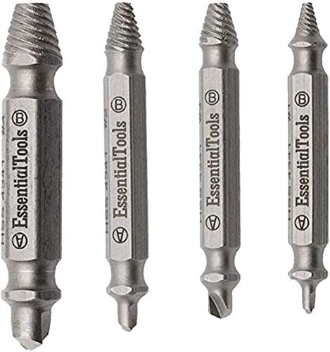 4x Speed Out Screw Extractor Drill with Box Bits Tool Broken Damaged Remove I Nd