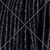 Doctored Locks Extra Long Premade Synthetic Dreadlocks - 22 inch Double Ended Hair Extensions - Black/Natural Black
