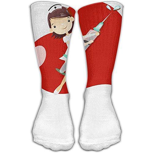 Nurse With Heart Women & Men Socks Soccer Sport Tube Stockings Length 30cm for $<!--$12.95-->