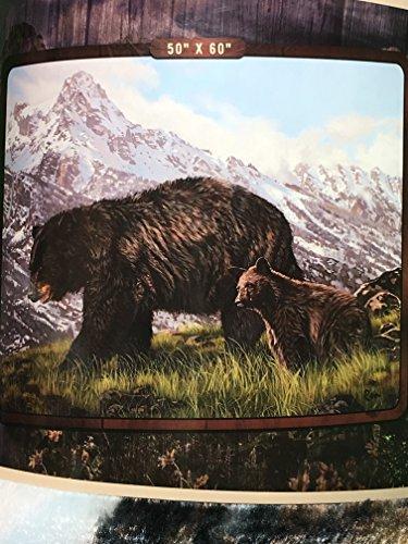 Black Bear Throw - Royal Plush Raschel Throw 50