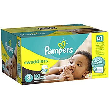 Pampers Swaddlers Disposable Diapers Size 3, 180 Count