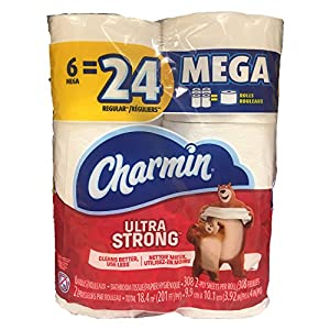 Ratings and reviews for Charmin Ultra Strong Mega Roll Toilet Paper, 24 Count