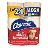 : Charmin Ultra Strong Mega Roll Toilet Paper, 24 Count