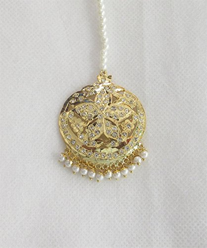 Indian Jadau Star Tikka/ Maang Tikka Jewelry/ Indian Jewelry Online/ Headpiece Tikka/ Punjabi Muslim Mughal Jewelry