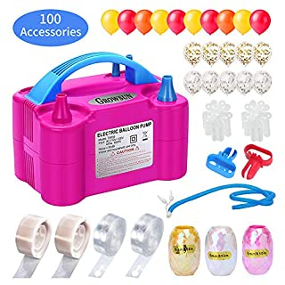 Growsun Electric Balloon Pump Garland Arch Kit with Pump 100V 600W Air Inflator w/Balloons Tape Strip for Party Decoration