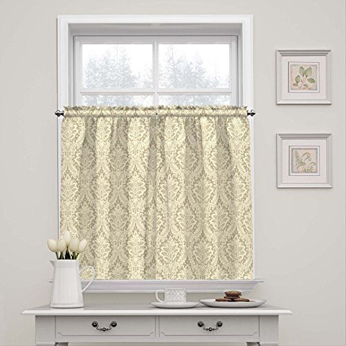 Waverly 15424052036LIN Donnington 52-Inch by 36-Inch Window Tier Pair, (Waverly Damask)
