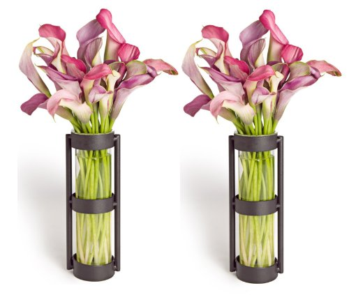Cheap Danya B. Metal Stand Glass Cylinder Vases, Set of 2