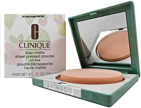 Clinique Stay-Matte Sheer Pressed Powder, 03 Stay Beige, 0.27 Ounce