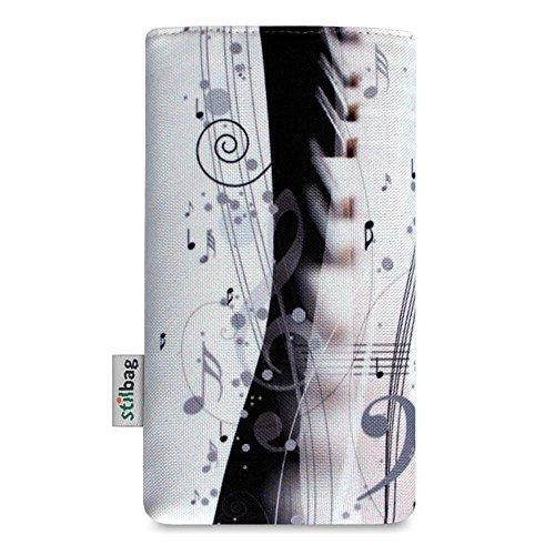 Stilbag Etui 'MIKA' pour Apple iPhone 6s plus - Dessin: Piano Music