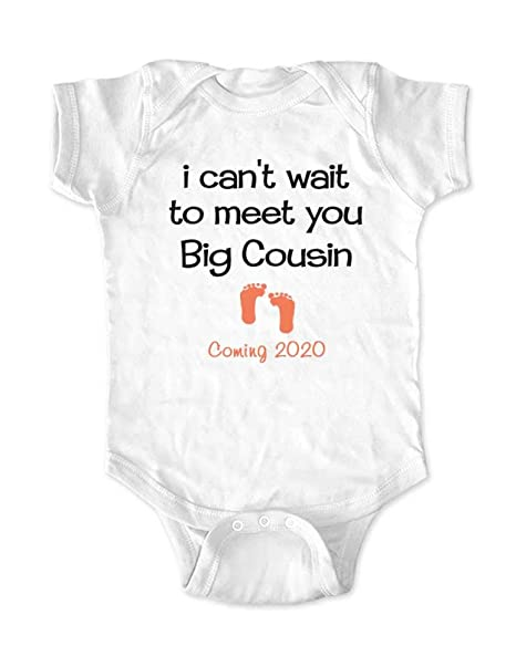 Best Baby Gifts 2020 Amazon.com: I Can't Wait to Meet You Big Cousin Coming 2020   Baby