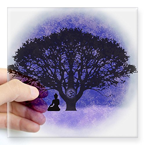 cafepress-buddha-beneath-the-bodhi-tree-light-background-squ-square-bumper-sticker-car-decal-3x3-sma