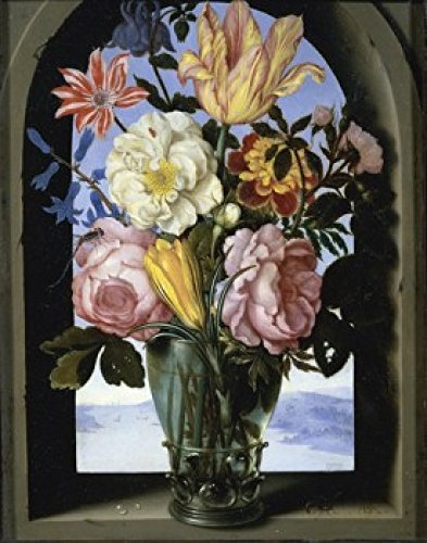 Flemish Bouquet - Bouquet of Flowers in an Arch Ambrosius Bosschaert (the elder) (1573-1621 Flemish) Musee du Louvre Paris Poster Print (18 x 24)
