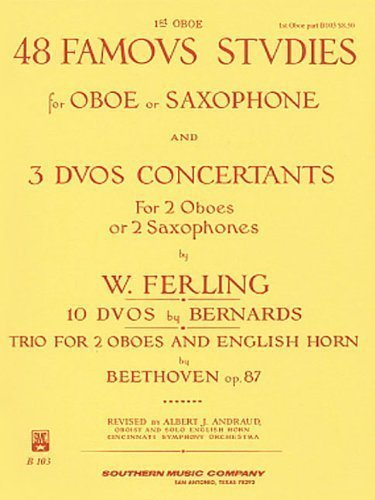48 Famous Studies for Oboe or Saxophone and 3 Duos Concertants for 2 Oboes or 2 Saxophones