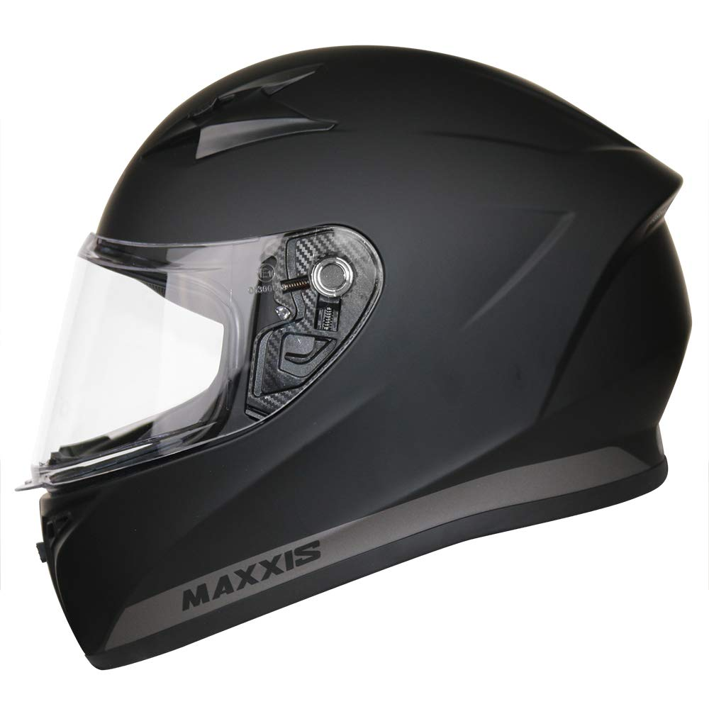 Matt Black S 55-56cm Extra Dark Smoke Visor Leopard LEO-813 Full Face Motorbike Motorcycle Helmet Road Legal
