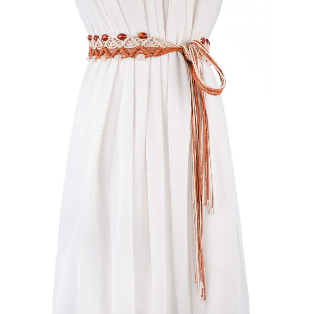Ddcjc Cinturón De Mujer Falda Étnica Falda Cinturón Color A Juego ...