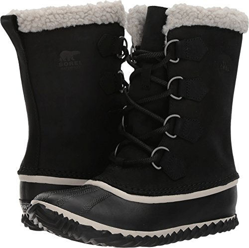 SOREL Women's Caribou Slim Boots, Black, 10 B(M) US