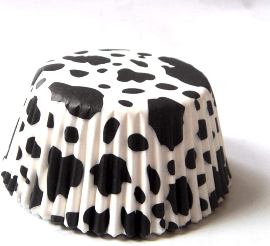 Cow Animal Paper Muffin Cupcake Liners case Birthday Baking Cups Holders 100 pcs,Standard Size 2x1.25inch