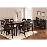 Steve Silver Company Victoria 8 Piece Counter Height Dining Table Set in Mango Review