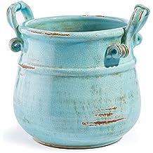 Napa Firelite Honey Pot, Olive Green Glazed Ceramic, 4-1/2-Inch Tall by 6-3/4-Inch Diameter