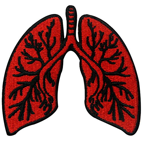 X-Ray Anatomical Lung Embroidered Applique Iron On Sew On Patch