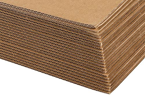 Corrugated Cardboard Sheets 24 Pack Flat Cardboard Sheets Cardboard Inserts For Packing Mailing Crafts Kraft Brown 12 X 12 Inches Amazon Sg Office School Supplies