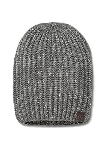 Mercedes Benz Ladie's Soft Knitted Hat with Silver-Colored - Nanuet Stores