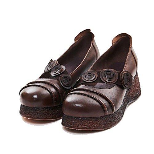 MujerPiel De Medio Sandalias Shoe Oveja Ynxz Nuevo Tacón MqpzVGSU
