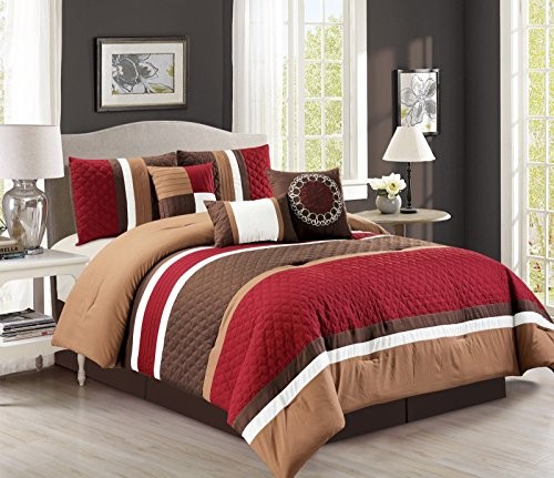 Brown And Red Bedding - 9