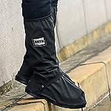 USHTH Black Waterproof Rain Boot Shoe Cover with
