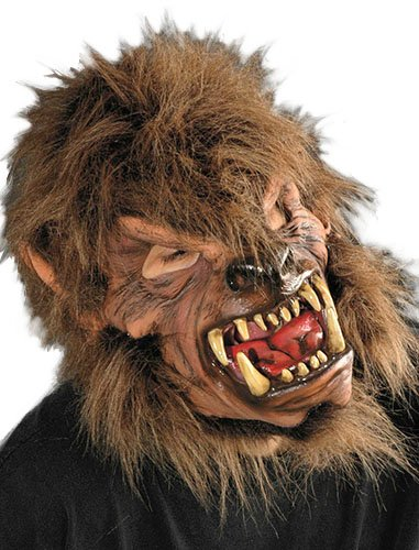 Zagone MoonShined Werewolf Mask, Brown Wolfman -