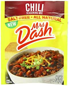 Mrs. Dash, Seasoning Mix, Chili, 1.25 Ounce (Pack of 12)