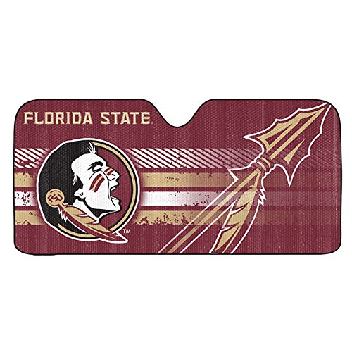 Team ProMark 1 Pc, Florida State Seminoles Auto Sun Shade 59x27, Reflective Material, Accordion Fold, 99% Of UV-A & UV-B Rays Blocked