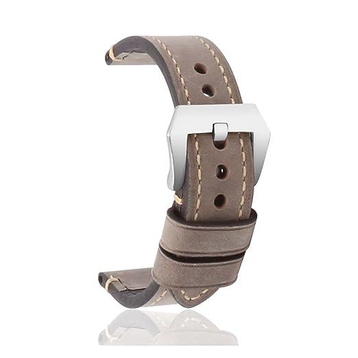 98 opinioni per omyzam Cinturino Vintage per Orologio Vero Cuoio Ricambio con Grande Fibbia
