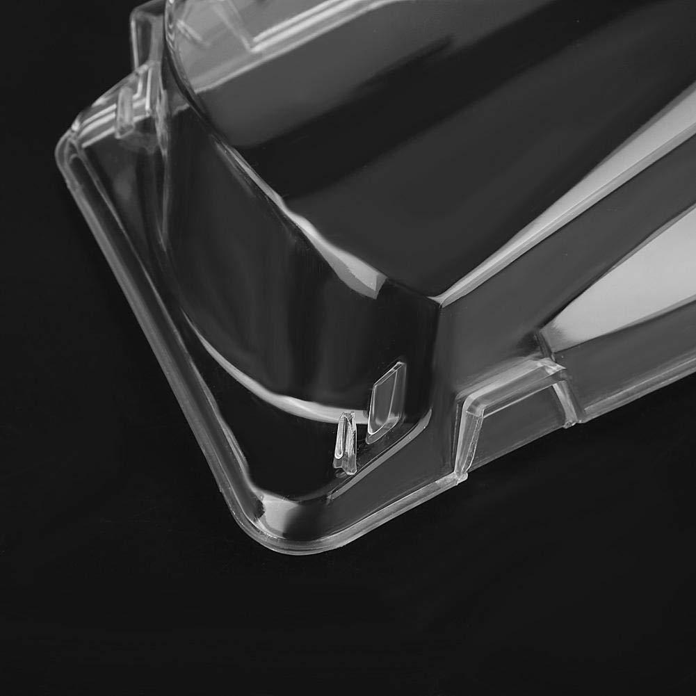Qiilu Auto Alloggiamenti fari 1 paio fari anteriori sinistro destro copriobiettivo in plastica trasparente per E46 serie 3 4DR 02-05