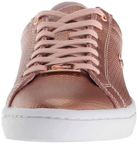 Pink White Light Sneaker Lacoste Women Straightset qCw1CpRIn