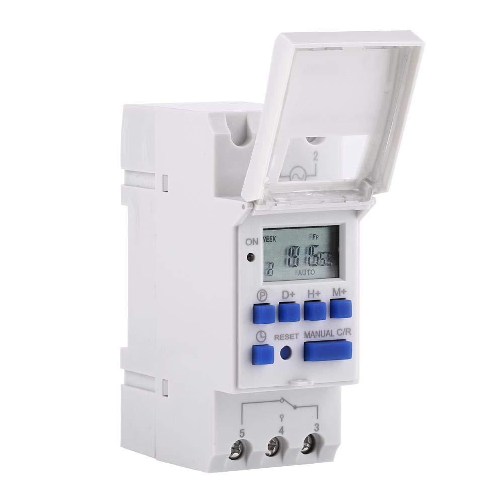 Interruptor temporizador eléctrico digital Interruptor programable semanal diario de 24 horas / 7 días con pantalla LCD(12V)