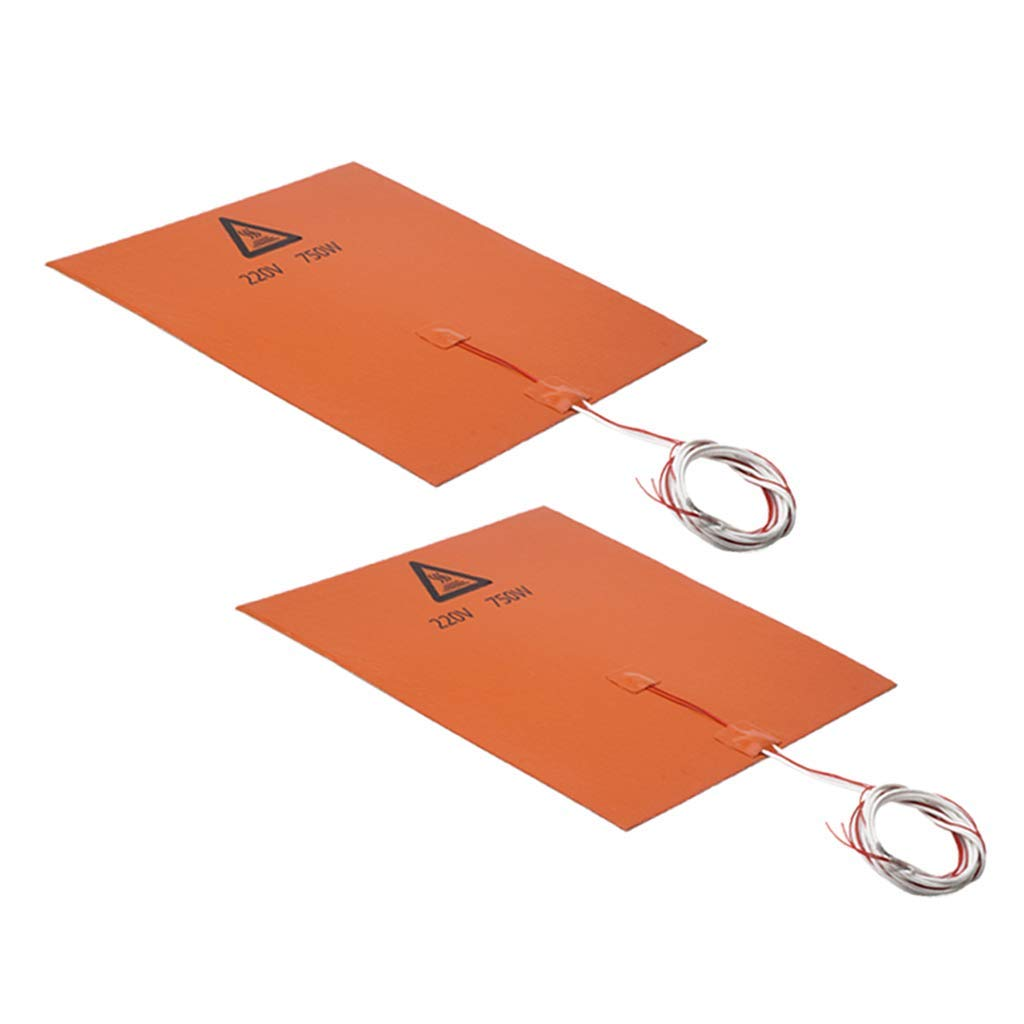 nouler Juler 2Pcs 225V 750W 300Mm X 300Mm 3D Printer Silicone Heating Pad Heating Mattress by nouler