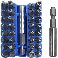FineGood - Juego de 34 puntas de destornillador con soporte ...