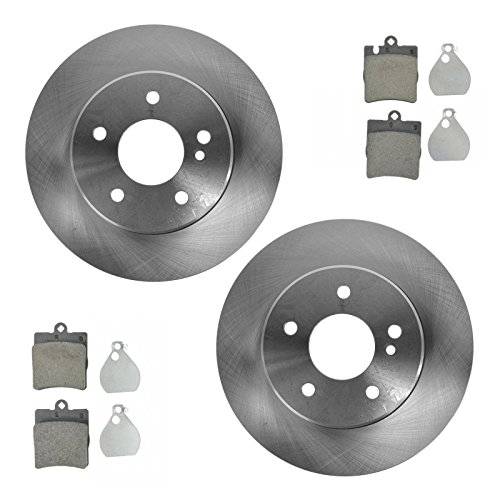 Brake Pad & Rotor Rear Ceramic Kit Set for Mercedes Benz