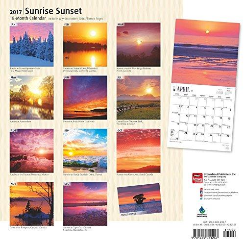 sunrise sunset 2017 wall calendar. Black Bedroom Furniture Sets. Home Design Ideas