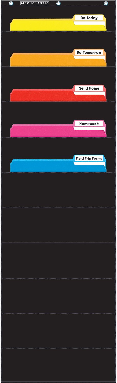 Scholastic Classroom Resources File Organizer Pocket Chart, Black (SC573276) Scholastic Corporation