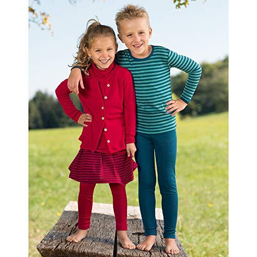Kids Thermal Underwear: Leggings Pants Base Layer, Organic Merino Wool and Silk (EU-116   4-6 years, Grey) by EcoAble Apparel (Image #1)