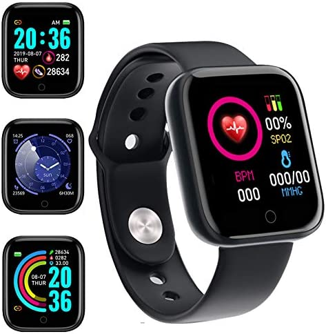 Smart Watch, Fitness Tracker with Heart Rate Monitor, Activity Tracker with 1.3 Inch Touch Screen,Waterproof,Sleep Monitor,Activity Tracker Pedometer for Women and Men,for iPhone Android
