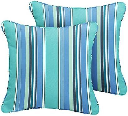 Mozaic AMPS106848 Indoor Outdoor Sunbrella Square Pillow