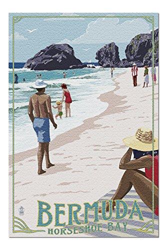 Bermuda - Horseshoe Bay Beach Scene (20x30 Premium 1000 Piece Jigsaw Puzzle, Made in USA!)