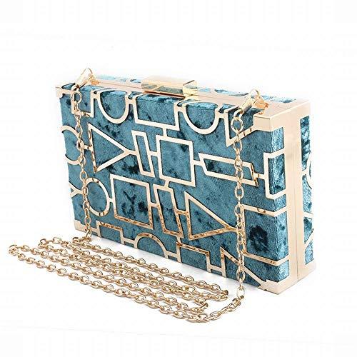 Carré Main Blue color Pochette En Pour Métal Blue Dames Cijfay Petit Banquet À Creux Sac 1Ewq1xS0R