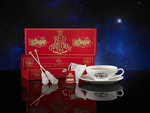TWG Singapore - Luxury Teas - RED CHRISTMAS TEA - 15 Hand sewn pure cotton tea bags ()
